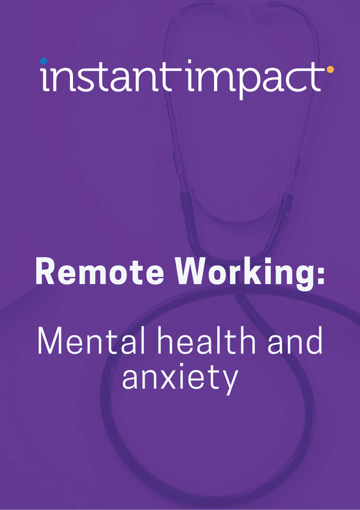 Cover of Remote working_ Mental health and wellbeing